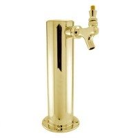 "Single, 3"" Column, Brass"