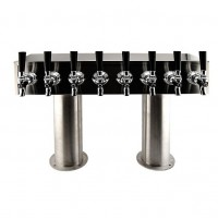 "Double Pedestal, 6 to 12 Faucets, 3"", Stainless Steel, Air Cooled"