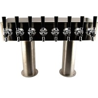 "Double Pedestal, 6 to 12 Faucets, 3"", Stainless Steel, Glycol Cooled"
