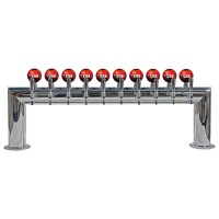 Illuminated Pass Through, 8 to 12 Faucets, Glycol Cooled