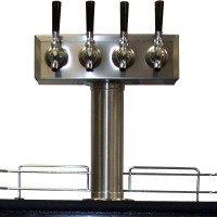 """T"" Tower, 4-Faucet, 3"" Column, Air Cooled"