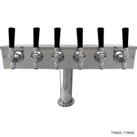 """T"" Tower, 4 to 8 Faucets, 4"" Column, Stainless Steel, Glycol Cooled"