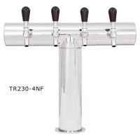 """T"" Tower, Terra (No Flange), 3 to 6 Faucets, 3 3/16"" Column, Glycol Cooled"